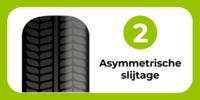 autoband: asymmetrische slijtage