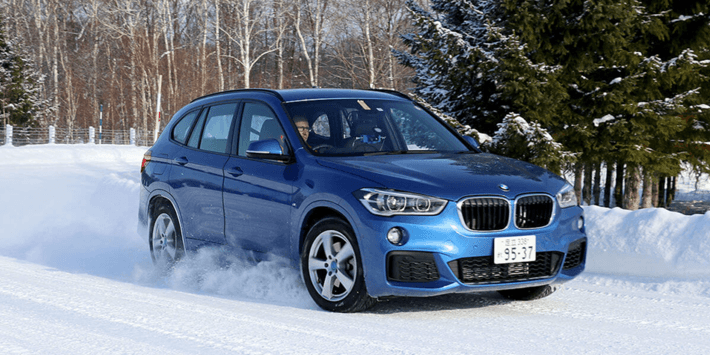SUV winterbandentest: Auto Bild voert een vergelijkende bandentest uit onder een BMW X1