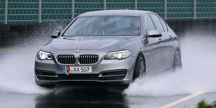 Auto Bild zomerbandentest 2020 onder een BMW 5 Serie