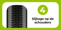 autoband: slijtage op de schouders