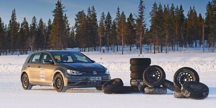 Winterbandentest van Auto Express op sneeuw