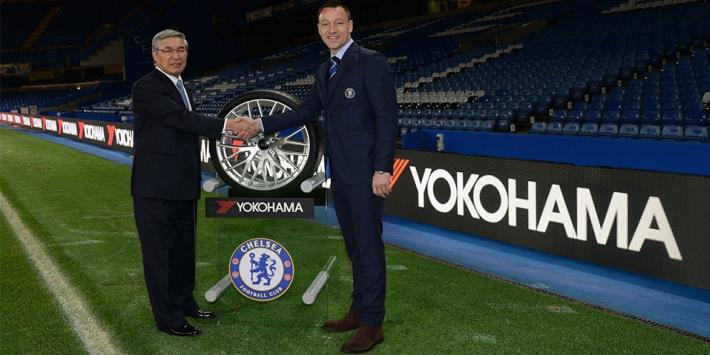 Officiële aankondiging van het partnership, M. Noji van Yokohama en John Terry van Chelsea FC