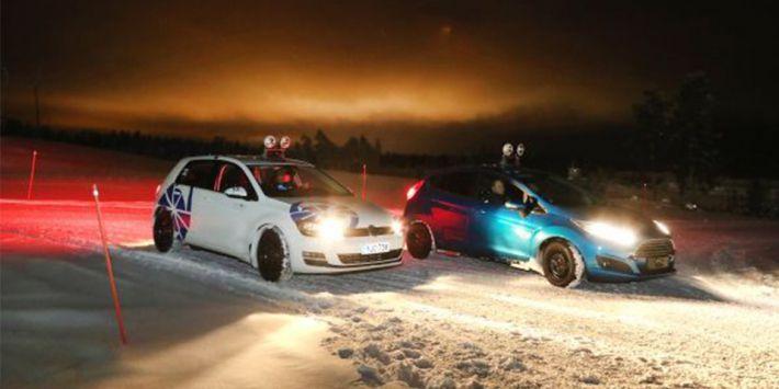De ADAC is onder andere naar Ivalo in Finland gegaan om de banden op dikke lagen sneeuw te testen